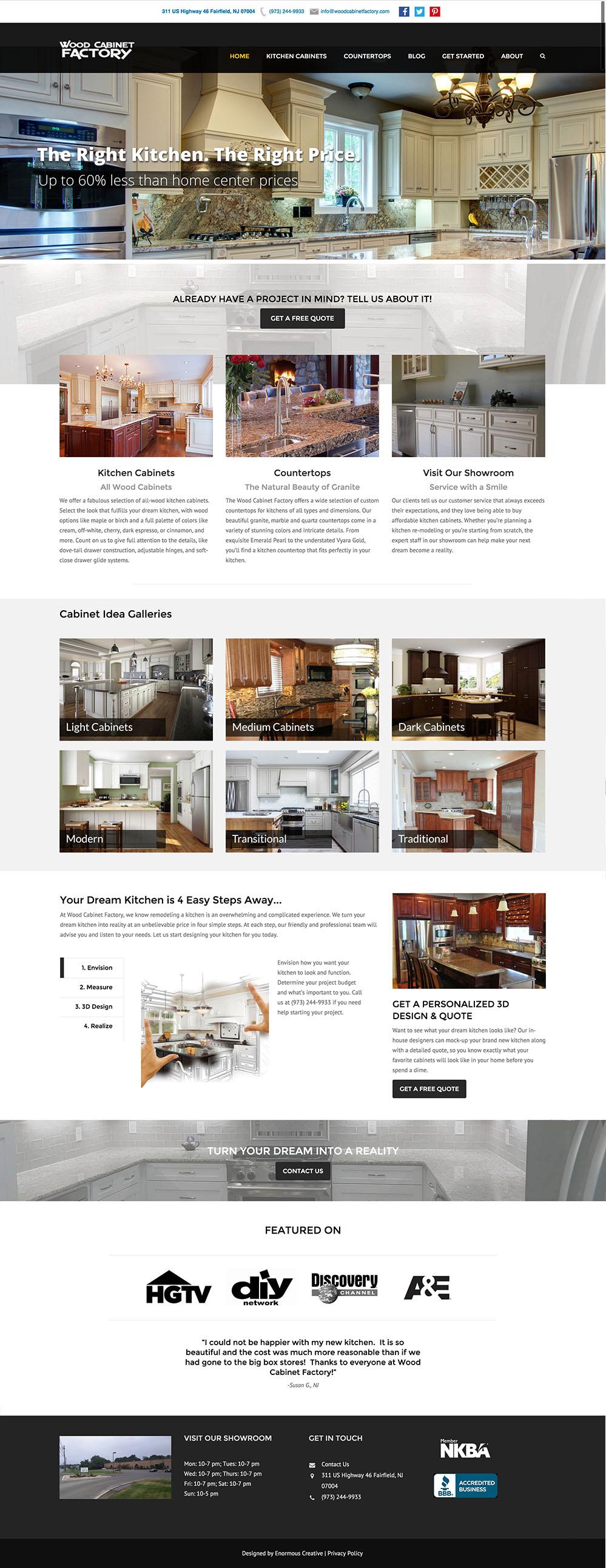Web Design - Enormous Creative