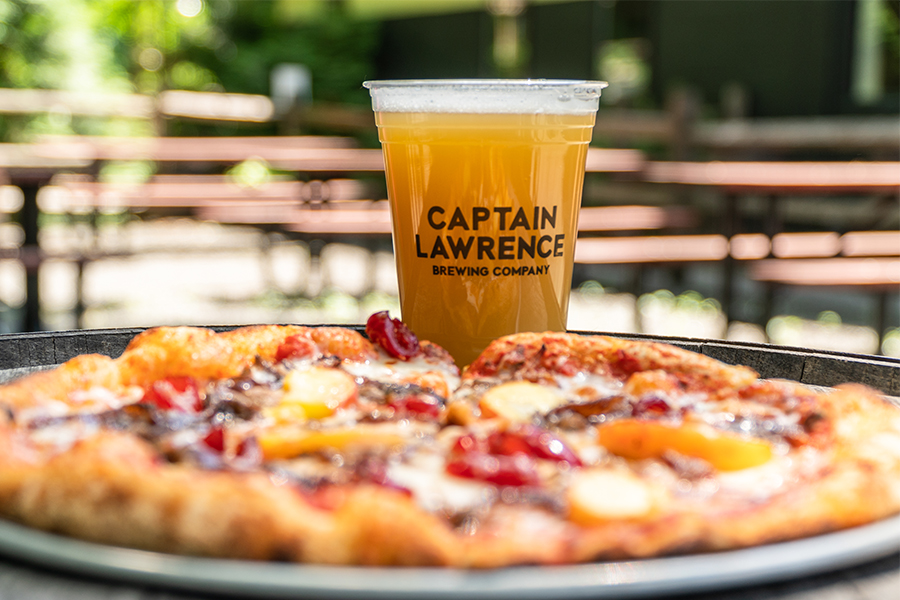 captian lawrence beer and pizza