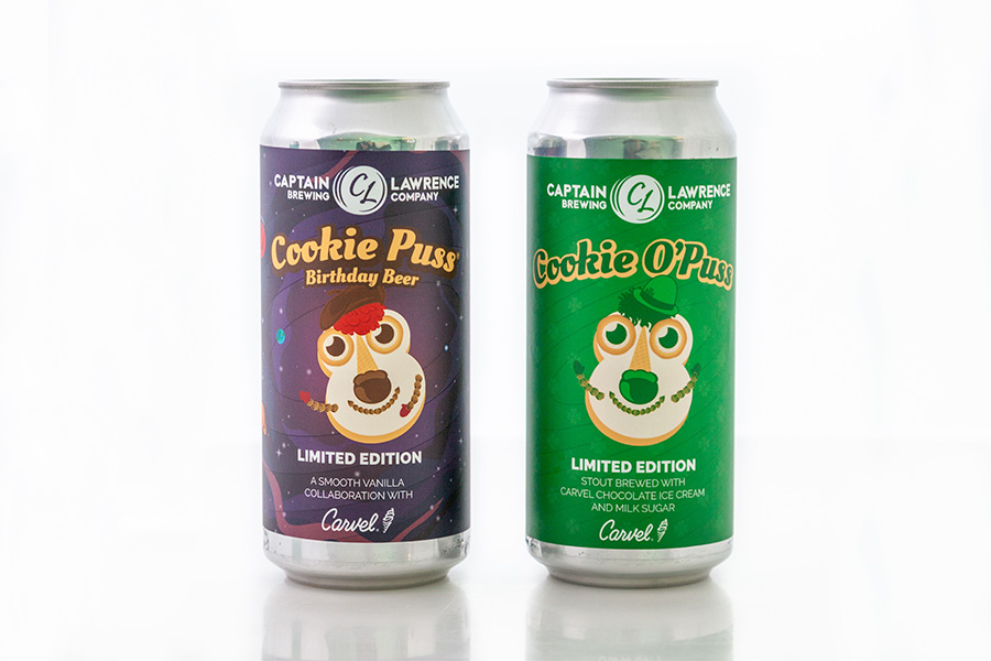 Cookie puss captain lawrence beer cans