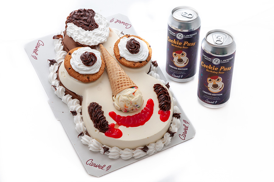 cookie puss cake and beers