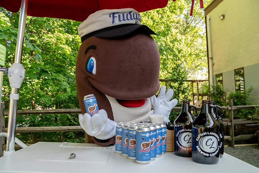 Fudgie the Whale and Captain Lawrence Beer